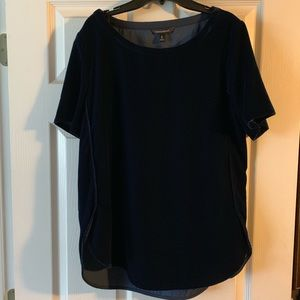 Dark blue velvet tunic